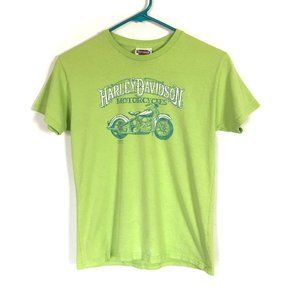Harley-Davidson T-Shirt Graphic Tee Cotton Green M